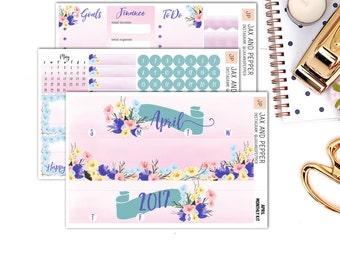 April Monthly Kit || for Erin Condren Life Planner || Planner Stickers