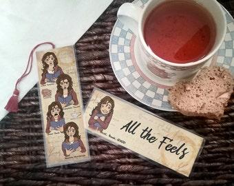 All the Feels Bookmark - Handmade