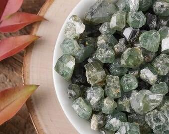 4g Lot Small Demantoid GARNET - Green Garnet, Rough Garnet Stone, Garnet Jewelry Making, Raw Garnet, Garnet Crystal, Chakra Crystal E0414
