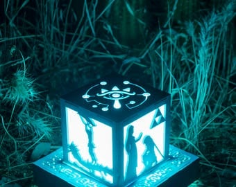 Zelda Breath of the Wild- Link Adventures inspired Color Changing Lantern with wall powered base