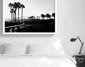 Venice Beach | California Printable Poster | Black & White Photography | Downloadable print | Digital file | California Eclectic Art