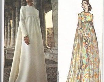 70s FABIANI Vogue Couturier Design 2537 Women's Evening Dress Sewing Pattern Miss 12 Bust 34 Hip 36 Uncut