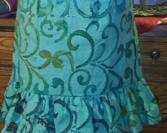 Ocean Swirls Skirt apron