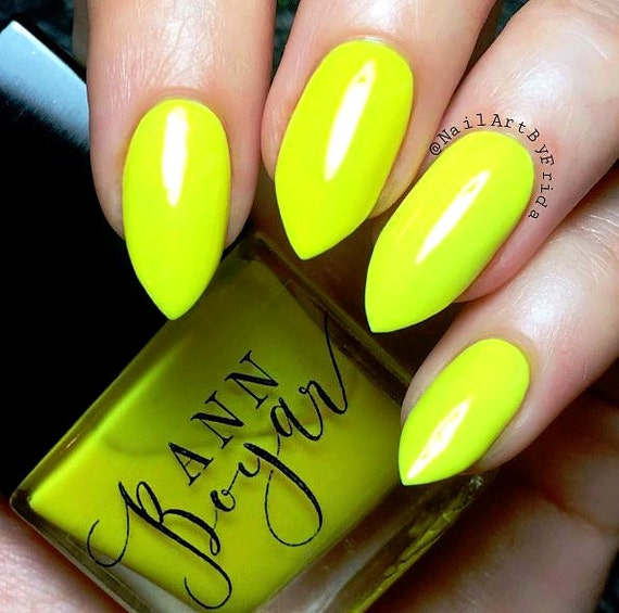 MERCER Neon Yellow Creme Nail Polish Luxury Nail Polish