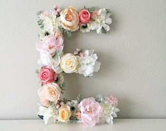 Floral Letter, Floral Initial, Nursery Letter, Flower Letter, Nursery Wall Art, Baby Gift, Shabby Chic, Boho Chic Nursery, Nursery Art