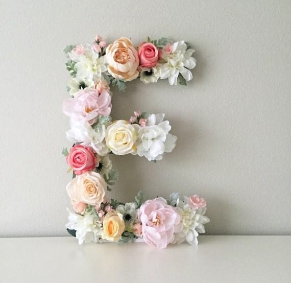 Shop Floral Monograms At Littlebrownnest Etsy Com