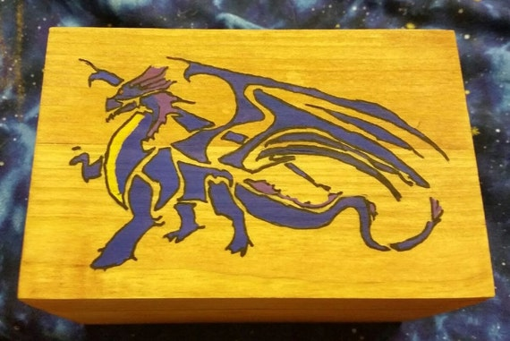 Hand Painted Dragon Box