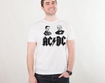 AC DC Shirt Concert Tees Rock Band Shirt T Shirt Rock Tee Shirt Heavy Metal Rock N Roll Clothing Shirt Concert T Shirt Men Funny PA1124