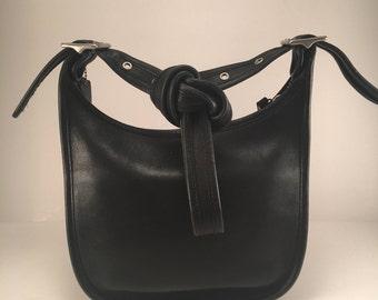 "Vintage Coach Black Leather ""Janice"" Legacy Shoulder Bag / Crossbody /  Style 9950 / Excellent Condition"