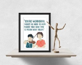 Whisper of the Heart Art Print, Studio Ghibli Art, Anime Poster, Anime Quote, Studio Ghibli Decor, Ghibli Gift Idea, Anime Fan Gift, Instant