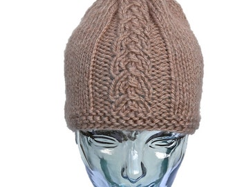 Wool patterned hat in front of