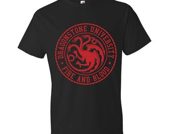 Dragonstone University - T-Shirt, Game of Thrones, House Targaryen, Fire and Blood