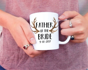 Father of the Bride | Wedding Mug, Gifts for Him, Wedding Thank You's, Gifts for Dads, Thank You Gift, Wedding Gift Idea, Save the Date