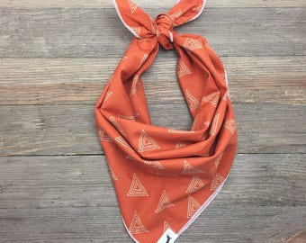 Burnt Orange Dog Bandana, Dog Bandana, Dachshund Gift, Pet Gift, Burnt Orange, Bandana for dogs