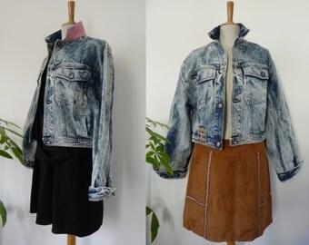H. LANDERS Vintage denim jacket / blue wash, denim / size XL / Oversize / Made in France / unisex / wide / 100% cotton / 80s/90s
