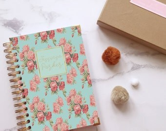 Spiral notebook ~ Lined journal ~ Personalised journal ~ Writing journal ~ Personalised notebook for her ~ Hoard Pretty Things Nameplate