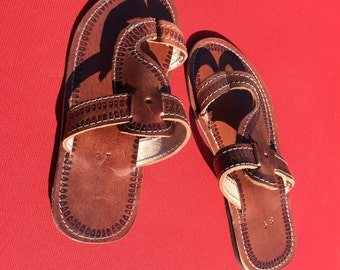 Handmade Leather Sandals from Ethiopia