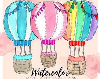 Hot air balloon clip art – Etsy