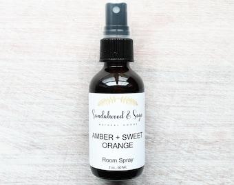 Amber + Sweet Orange Room Spray // Essential Oil Spray // Natural Room Spray // Calming Spray // Amber room spray // Amber and Orange Spray