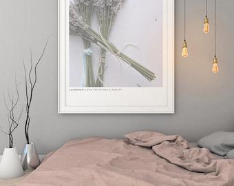 Flower Print, Digital Print, Modern Home Decor, Lavender Print, Flower Poster, Nordic Art, Flower Wall Art, Nordic Wall Print, Wedding Print