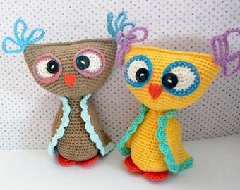 Patrón búho colorín de ganchillo / Crochet owl pattern