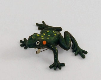 Upcycled Big Green Frog by AND SHE CLUNG