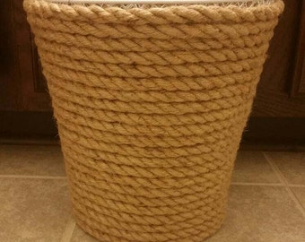 Rope trash can