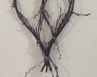 Birch twig hearts