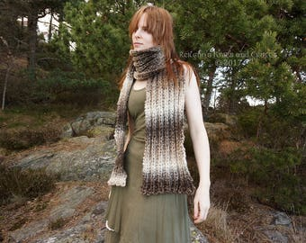 Scarf in Shades of Brown and Grey