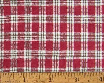 "Red Delicious 5 Homespun Cotton Fabric (Full Yard 36"" x 44"") by Jubilee Fabric"