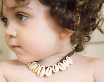 Moana Cowrie Shell Toddler Necklace