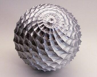 Silver Orb Decorative Sphere 5 Inch - Silver Sphere - Silver Ball Decoration