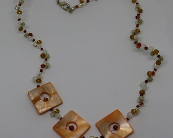 Mother of Pearl Swarovski beads chain