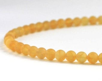 Yellow Lemon Baltic Amber Necklace, Elegant Genuine Amber Jewelry, 925 Silver, Trendy Summer Necklace, 100% Natural Baltic Amber