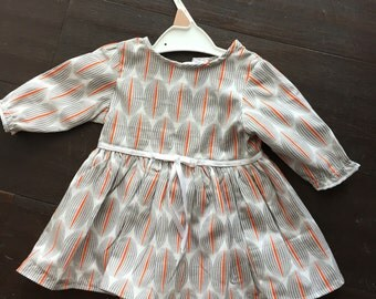 A-line Girl's dress with ribbon detail