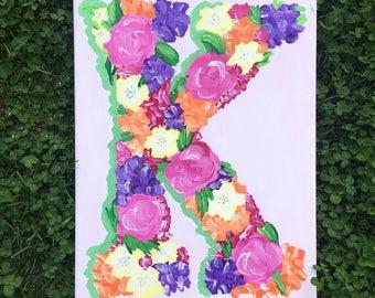 Floral Letter Canvas