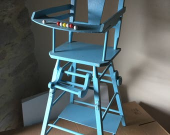 Doll high chair, vintage.
