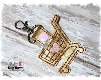 Quarter Keeper Key Fob, Quarter Keeper Keychain, Shopping Cart Quarter Keeper, Gifts for Her, Gold Keychain
