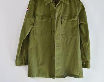 unisex army green jacket / medium