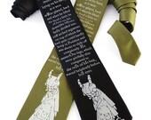 Franz Kafka Necktie, Literary Gift, English Teacher Gift, Surreal, Insect Tie, Mens Necktie, Bookworm for Him - The Metamorphosis Tie
