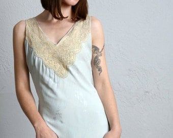 SALE- Antique Blue Night Gown