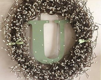 """18"""" Personalized Initial Wreath"""