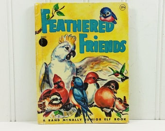 Feathered Friends by Mabel Watts, 1957 Rand McNally Junior Elf Book 29 Cent Cover