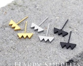 Nickel Free - High Quality Stainless Steel Stud Earring Post with Ear Studs Back Stopper (SEP012)