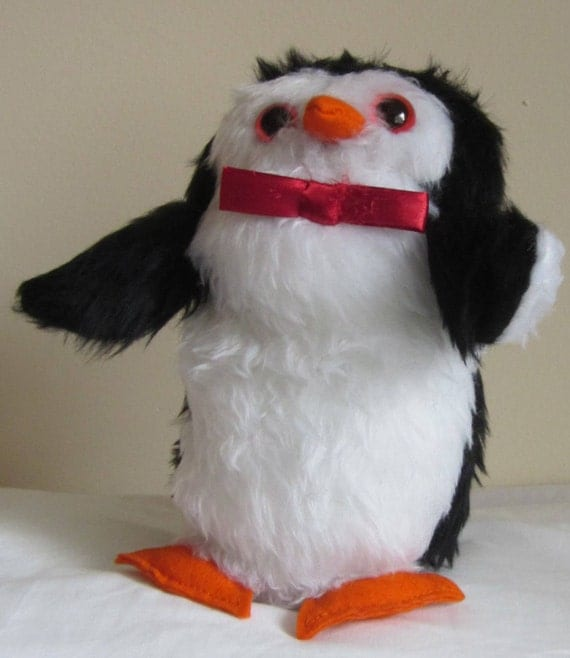 Percy Penguin, Stuffed Toy, Black and White Cuddly, Shower Basket Item, Cool Tots Toy, Toddler Gift, Cool Tot Toy, Boy Shower Toy, Girls Toy