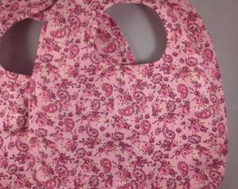 Two Paisley And Roses Floral Bibs Set Baby Bibs Toddler Bibs Reversible