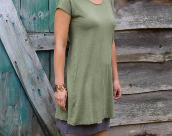 Sunday Kaftan Tunic-Organic Hemp and Cotton