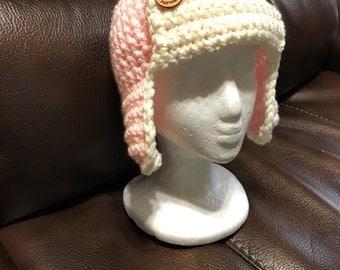Children's Lumberjack Hat - Logger Hat - Teen - ANY Colors - Outdoorsman Hat - Crochet Photo Prop