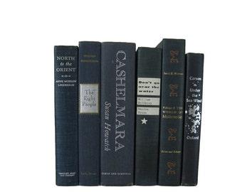 Blue  Decorative Books ,  Old Decorative Books , Decorative Book Set , Wedding Book Decor , Book Lover Set , Home Decor, Housewarming Gift