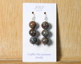 Opal Earrings with Sterling Silver hooks E2160